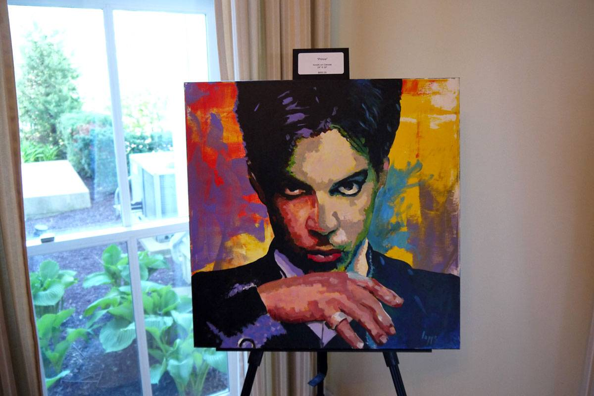 Prince Painting inside Wilder Mansion